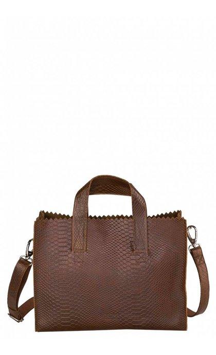 MYOMY Do Goods MY PAPER BAG  Mini handbag Cross Body Anaconda Brandy