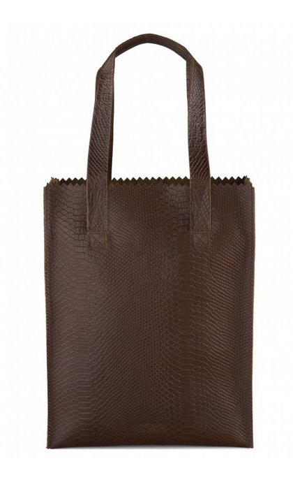 MYOMY Do Goods MY PAPER BAG Long handle zip Anaconda Brandy