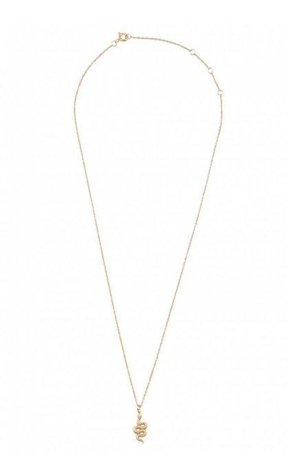 All the Luck in the World Souvenir Necklace Snake Goldplated