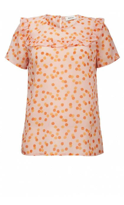 Modstrom Galia Print Top Rose