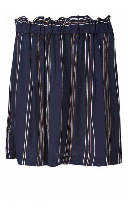 Modstrom Grazie Print Skirt Navy Organic Stripe