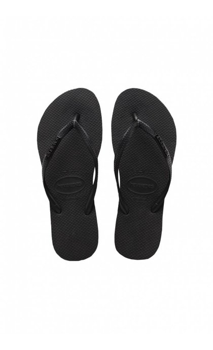 Havaianas Slim Logo Metallic Rock Black