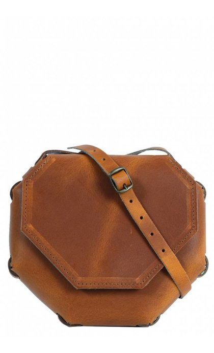 Elvy Sia Plain Bag Cognac