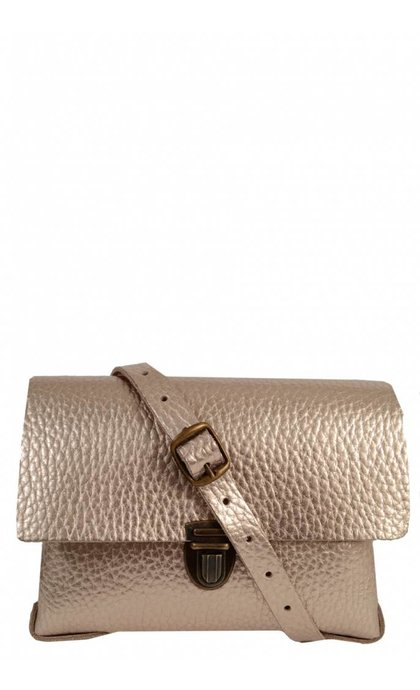 Elvy Gloria Bag Metallic Bubble Champagne