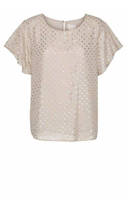 Minus Ulrikka Blouse Foil Dot Print