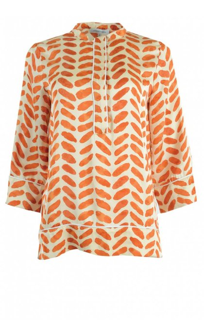 Second Female Stroke Blouse Orange Rust