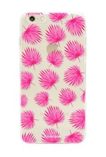 Apple Iphone 6 / 6S hoesje - Pink leaves