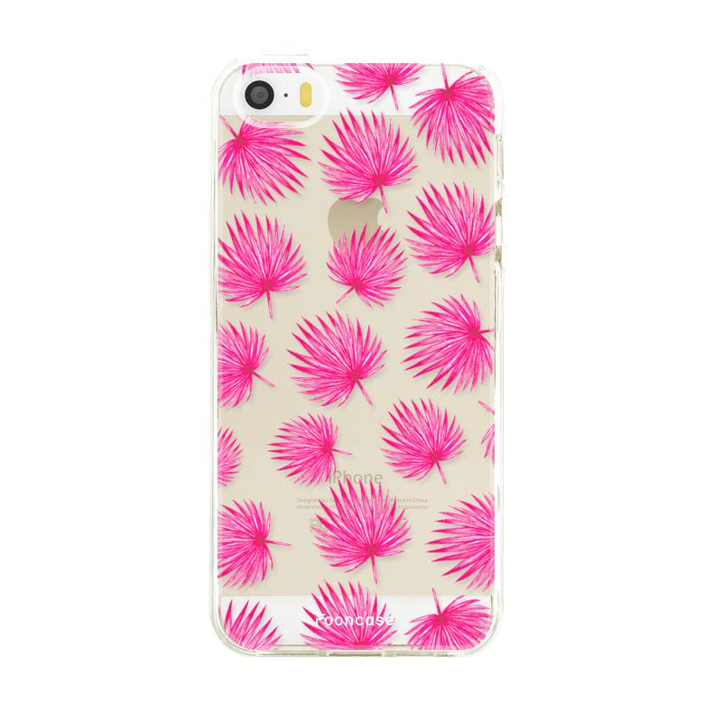 Apple Iphone 5 / 5S Handyhülle - Rosa Blätter