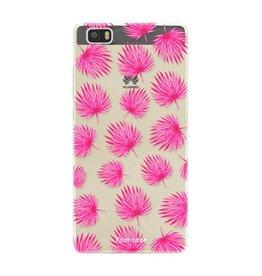 Huawei Huawei P8 Lite - Pink leaves