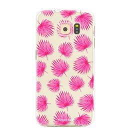 Samsung Samsung Galaxy S6 Edge - Pink leaves