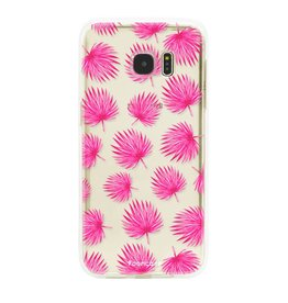 Samsung Samsung Galaxy S7 Edge - Pink leaves