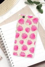 Huawei Huawei P9 Lite Handyhülle - Rosa Blätter