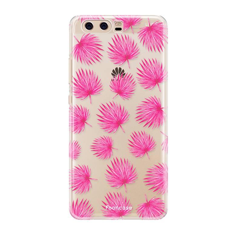 Huawei Huawei P10 Handyhülle - Rosa Blätter