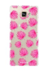 Samsung Samsung Galaxy A3 2016 Handyhülle - Rosa Blätter