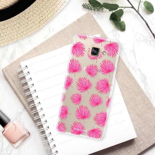 Samsung Samsung Galaxy A5 2017 Handyhülle - Rosa Blätter