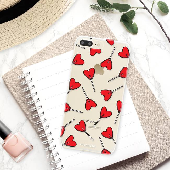 Apple Iphone 8 Plus hoesje - Love Pop