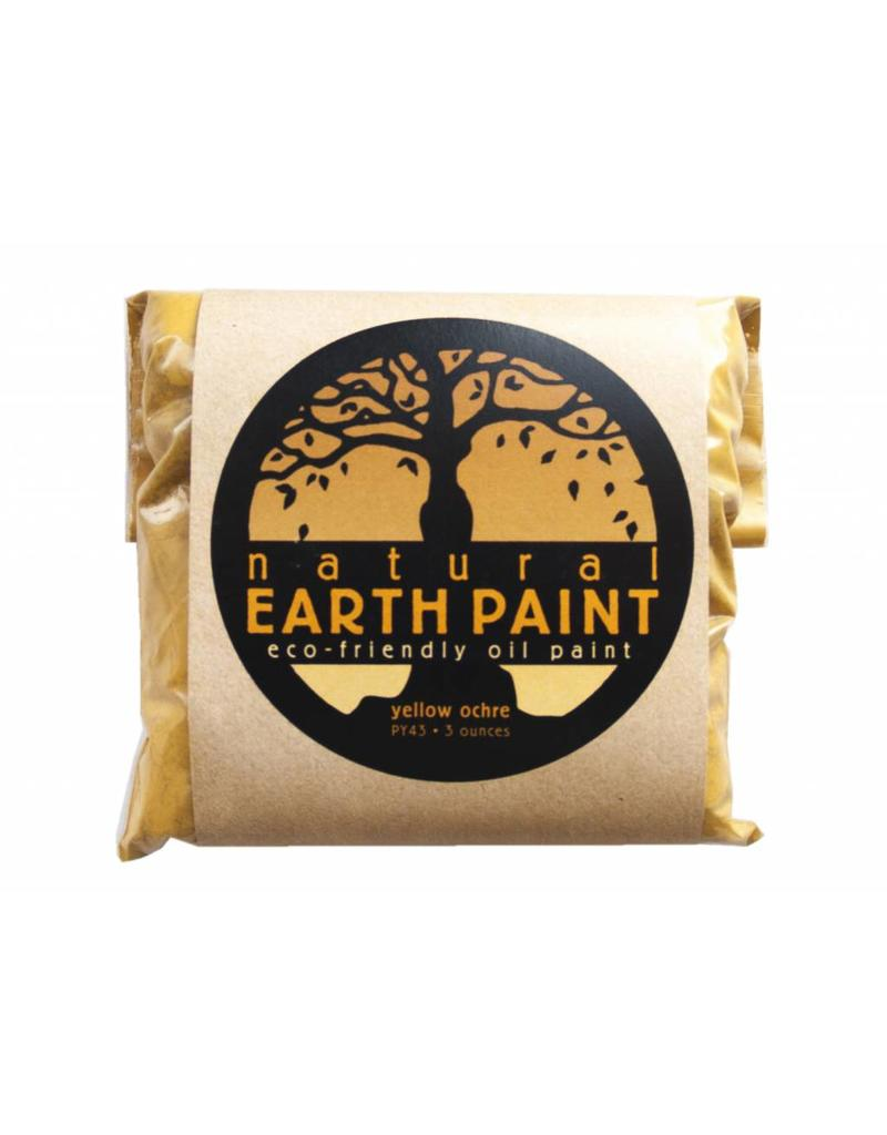 Natural Earth Oil paint made of earth and mineral pigments Yellow Ocher.