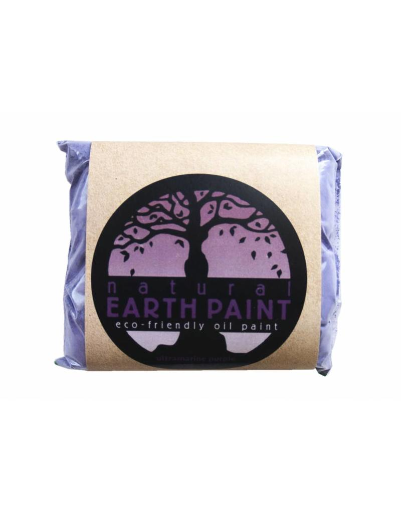 Natural Earth Oil paint made of earth and mineral pigments Ultramarine Purple.