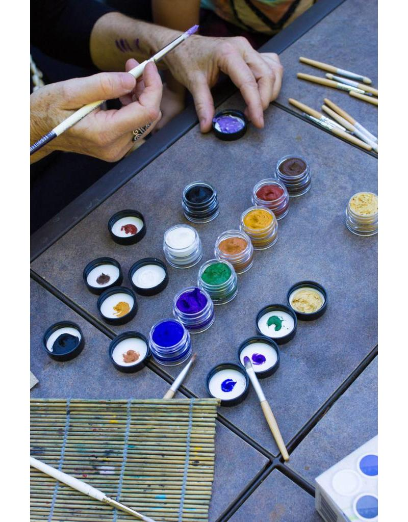 Natural Face/Body Paint Individual jar blue