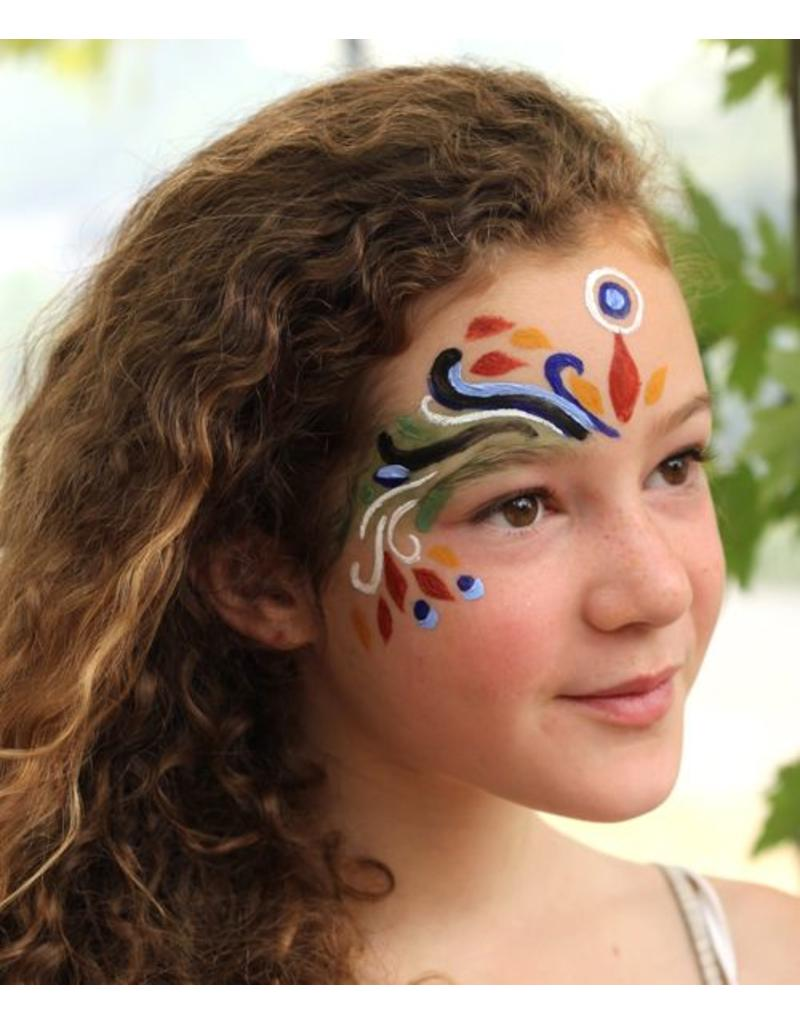 Natural Face/Body Paint individuele kleur - blauw