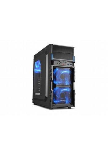 Sharkoon Case VG5-W / ATX / Micro-ATX / 3.0 USB / BLUE (refurbished)