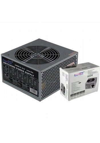 LC-Power PSU  600W 80+ ATX Zwart 6+2 Pins