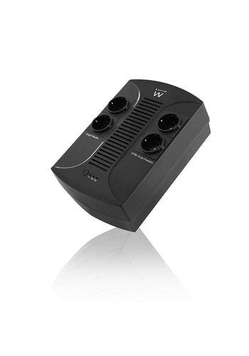 Ewent EW3940 Line-Interactive 650VA 4AC outlet(s) Zwart UPS