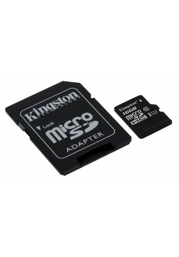 Kingston Micro SD + Adapter 16GB Class 10 UHS1