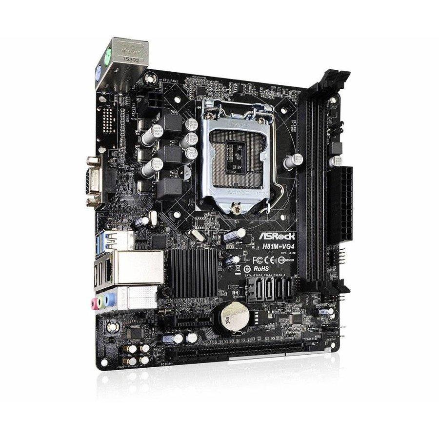 MB  H81M-VG4 R3.0 / 1150 / 2 x DDR3 / USB3.0 / mATX