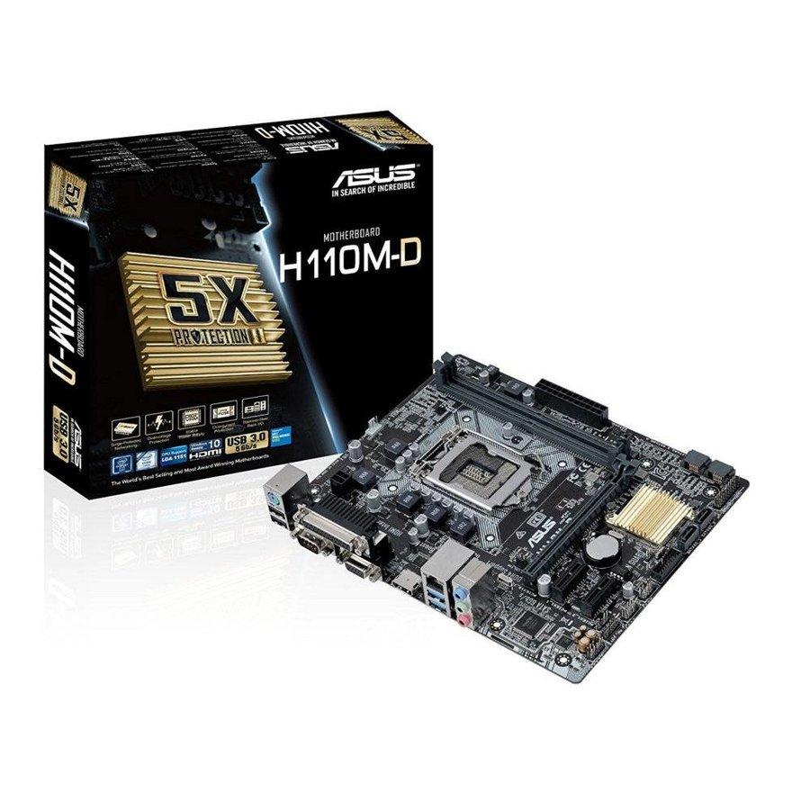 MB  H110M-D  / 1151  / 2x DDR4 /  HDMI  / USB3 / mATX