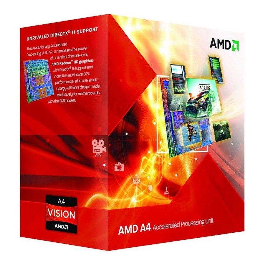 CPU ® Dual Core A4-4020 / 3.2Ghz - 3.4Ghz / Turbo FM2 BOX