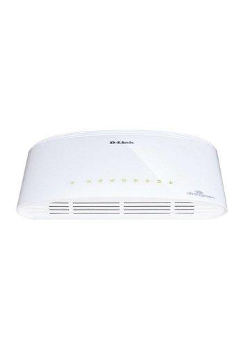 D-LINK D-Link DGS-1008D/E Unmanaged Wit netwerk-switch