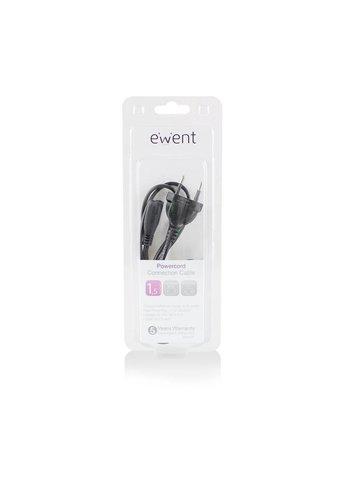 Ewent EW9181 1.5m CEE7/16 C7 stekker Zwart electriciteitssnoer