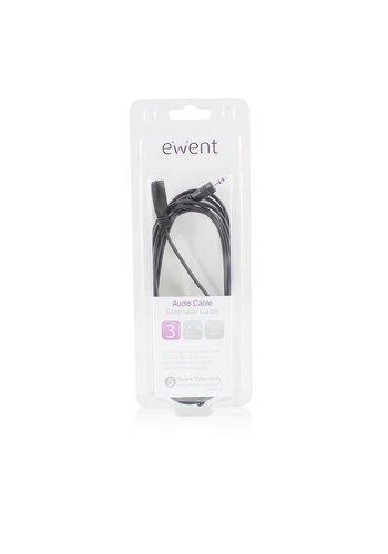 Ewent EW9230 3m 3.5mm 3.5mm Zwart audio kabel