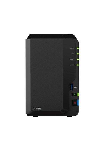 Synology DS218+ NAS Compact Ethernet LAN Zwart data-opslag-server