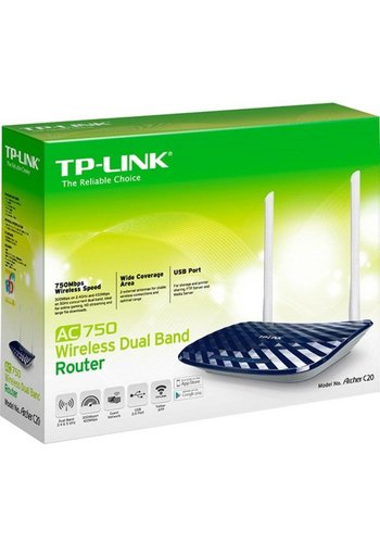 TP-Link TP-LINK AC750 Dual-band (2.4 GHz / 5 GHz) Fast Ethernet Zwart, Wit draadloze router