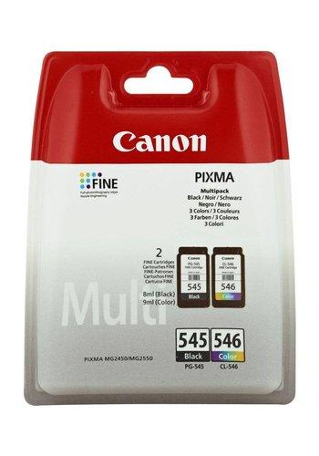 Canon PG-545/CL-546 Multipack Zwart, Cyaan, Geel inktcartridge