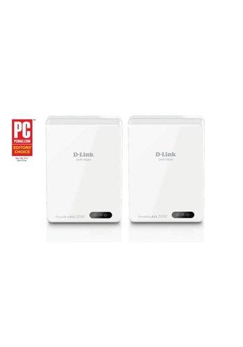 D-LINK D-Link DHP-701AV/E Ethernet LAN Wi-Fi Wit 2stuk(s) PowerLine-netwerkadapter