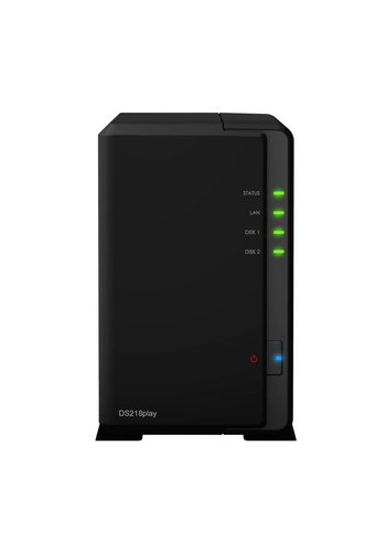 Synology DS218play NAS Compact Ethernet LAN Zwart