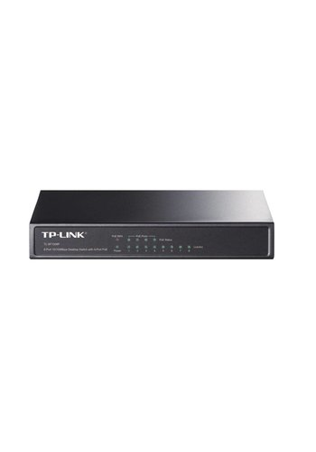 TP-Link TP-LINK 8-port 10/100 PoE Switch Unmanaged network switch Power over Ethernet (PoE) Zwart