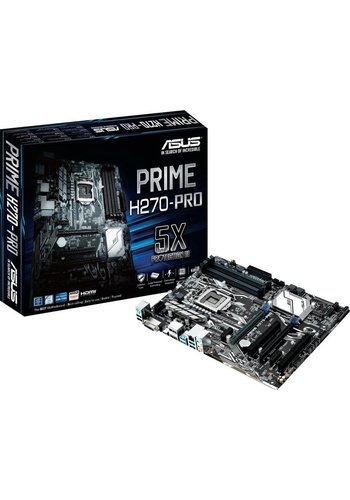 Asus ASUS PRIME H270-PRO Intel H270 LGA 1151 (Socket H4) ATX moederbord