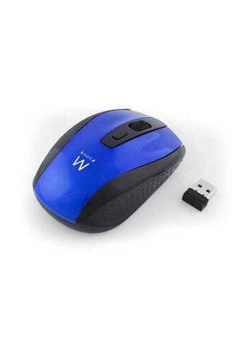 Ewent EW3238 RF Draadloos Optisch 1600DPI Ambidextrous Zwart, Blauw muis