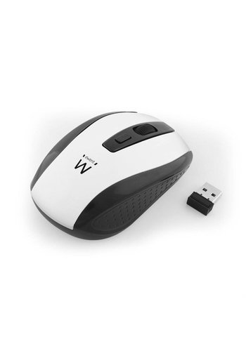 Ewent EW3236 RF Draadloos Optisch 1600DPI Ambidextrous Zwart, Wit muis