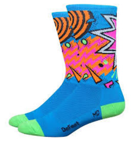 "DeFeet, Aireator 6"" , Socks, Shazam, Blue/Green, L"