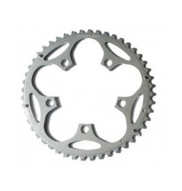 5-Arm Alloy Chainring: 52T Silver 110pcd