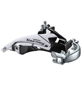 FD-TY500 MTB front derailleur, top swing, dual-pull and multi fit for 42T