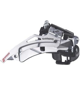 FD-TY500 hybrid front derailleur, top swing, dual-pull and multi fit for 42T