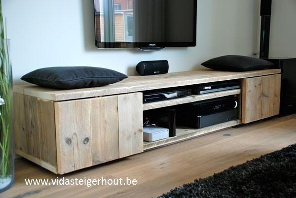 Tv Kast Steigerhout : Tv meubel old look het steigerhouthuis