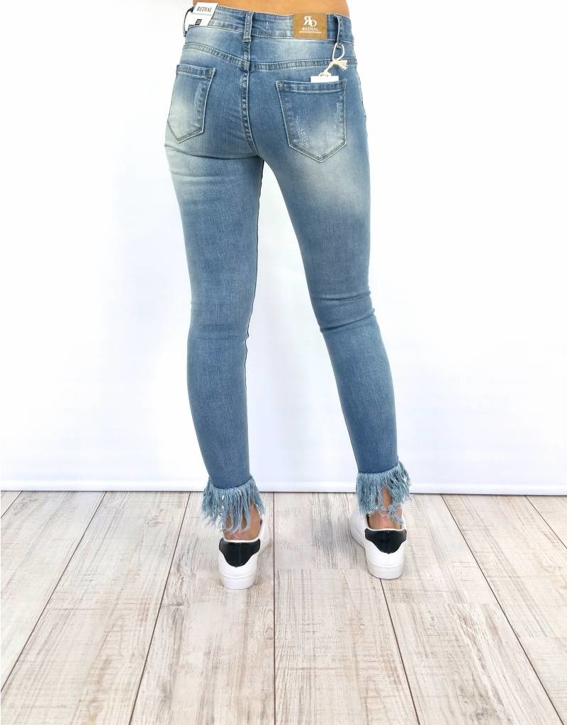 Jeans Fringed