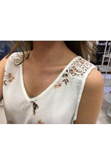 Jurk lace back white
